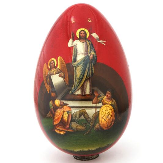 Russian Papier-mâché Easter Egg, the Resurrection
