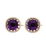 other view, pair of amethyst and diamond brooches by Faberge
