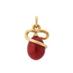 back view, Fabergé Serpent Mini Egg Pendant