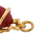 detail view, Fabergé Serpent Mini Egg Pendant