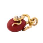 other view, Fabergé Serpent Mini Egg Pendant