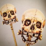 Gustave Trouvé electric skull stickpin