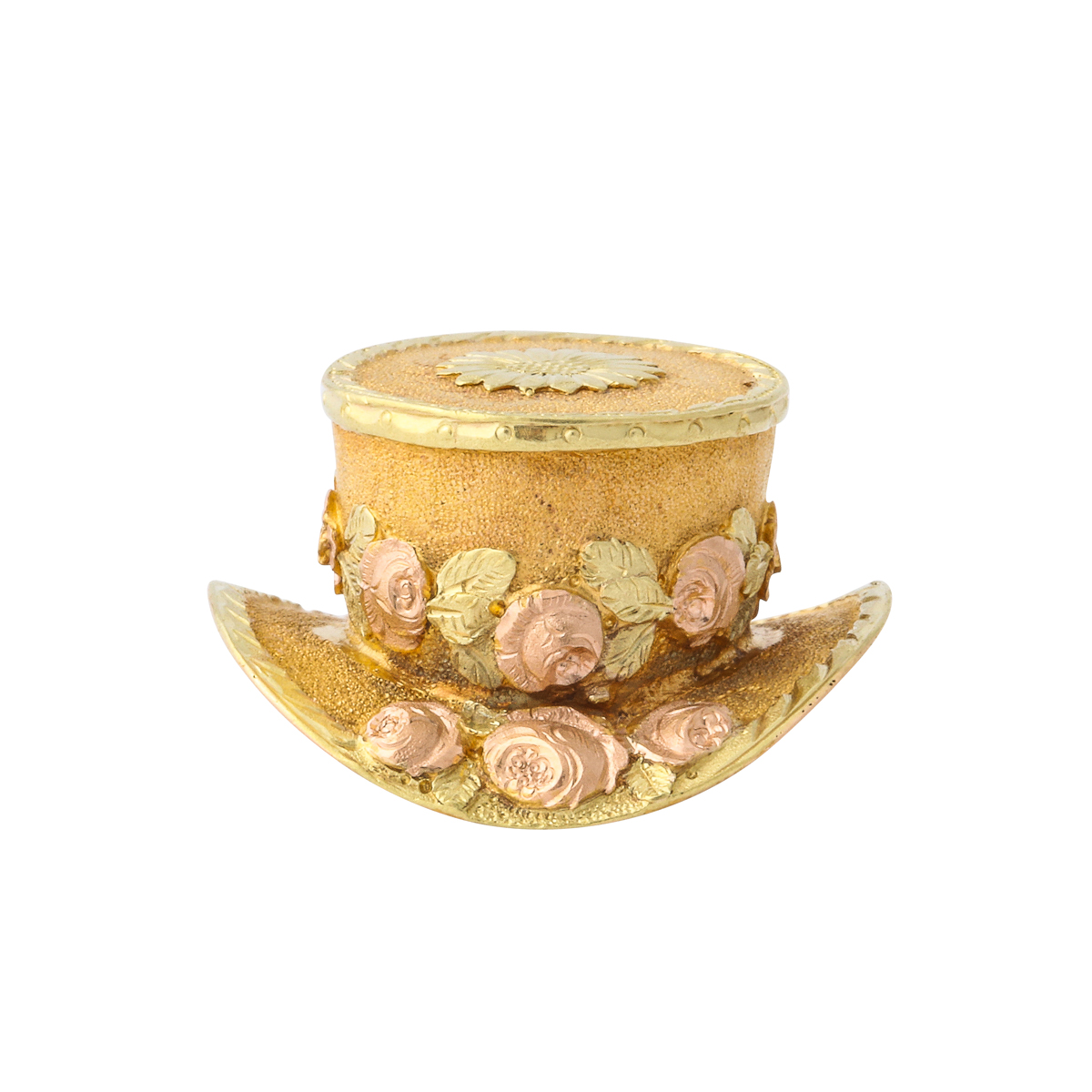 main view, Antique Gold Hat Charm Locket