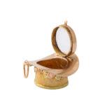 open locket view, Antique Gold Hat Charm Locket