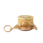 side view, Antique Gold Hat Charm Locket