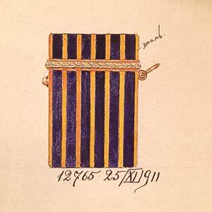 Faberge Gold and Enamel Match Case Wigstrom Drawing