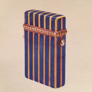 Faberge Enamel, Gold and Diamond-set Match Case