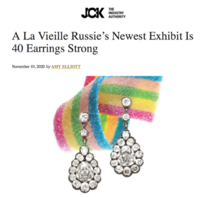 screenshot of JCK Magazine article about ALVR exhibition Ear Candy