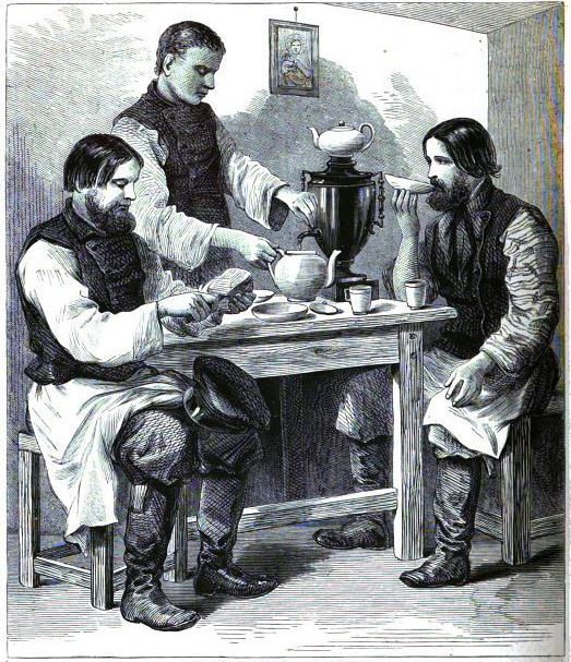 Russian Tea Drinkers from chatterbox magazine