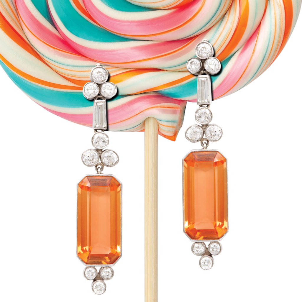 lollipop with earrings for Ear Candy exhibition