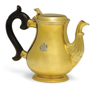 Gilded Silver Imperial Teapot with Russian Imperial Eagle