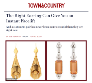 Town & Country article screenshot about ALVR's Ear Candy exhibition