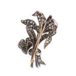 back, Victorian Diamond Floral Spray Brooch