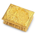 main view, George II Finely Chased Gold Box