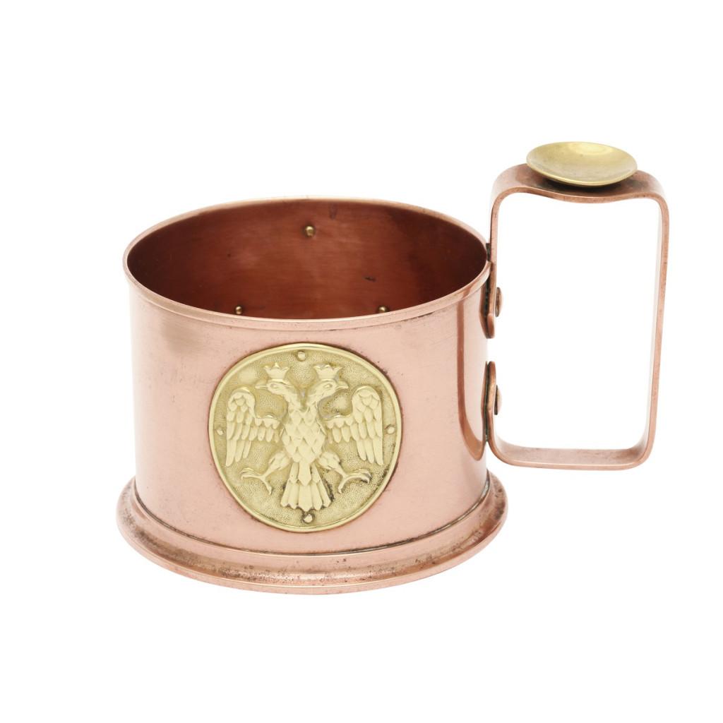 Fabergé World War I Copper Tea Glass Holder