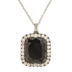 Victorian Black Diamond Pendant