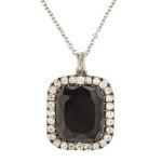 Victorian Black Diamond Pendant