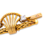 clasp, Vintage 1950s Cartier Gold and Diamond Necklace
