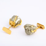 main view, 1960s Pyrite Cufflinks by Andrew Grima