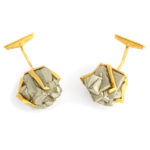 top view, 1960s Pyrite Cufflinks by Andrew Grima