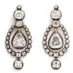 main view, Victorian Diamond Transformable Pendant Earrings