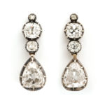 other earring option, Victorian Diamond Transformable Pendant Earrings