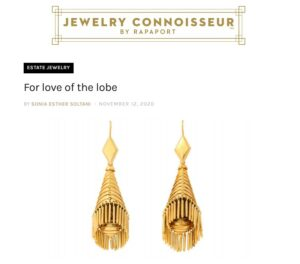 screenshot of jewelery connoisseur by rapoport article about ear candy exhibition