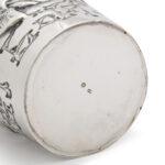 marks detail, Russian Pan Slavic Silver Beaker