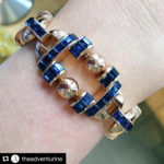 The Adventurine instagram post featuring sapphire and gold bracelet