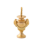main view, Antique Gold Miniature Urn Charm