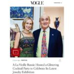 ALVR's Peter Schaffer and Vogue's Grace Givens at ALVR party in celebration of new exhibition