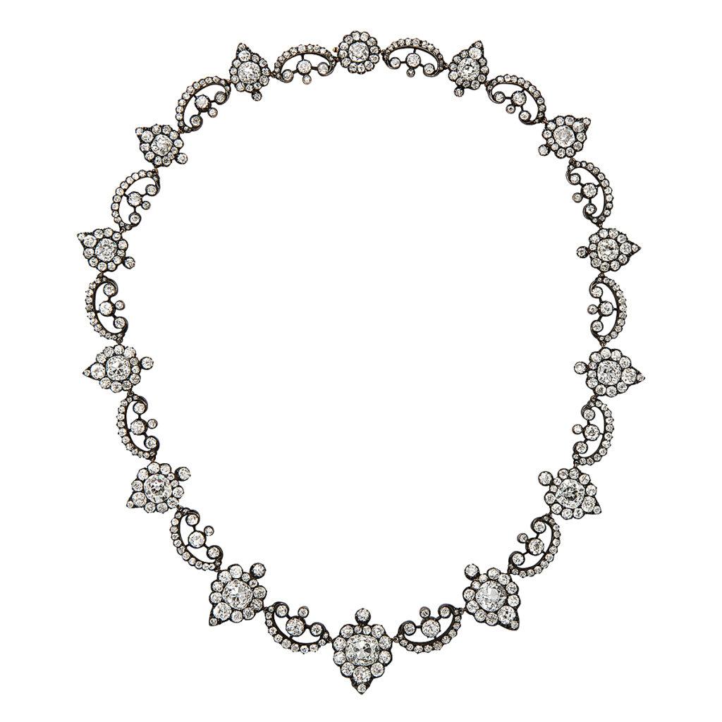 main view, Georgian Revival Antique Diamond Necklace
