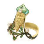 additional view, Art Nouveau Ring depicting Father Christmas by Lalique