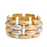 main view, Retro Three Color Gold Bracelet