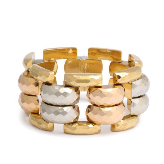 main view, Retro Three Color Gold Bracelet