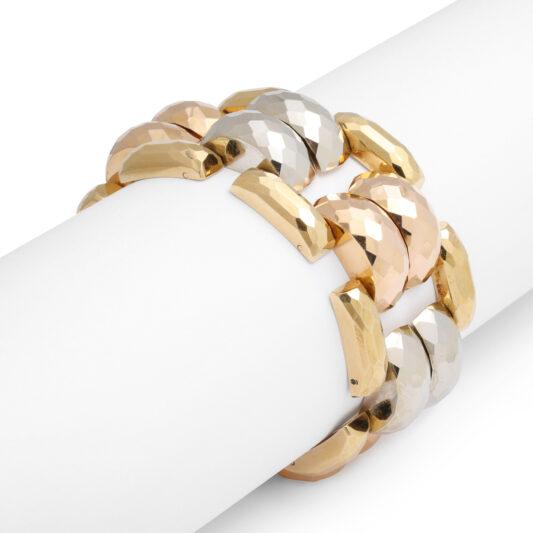 additional view, Retro Three Color Gold Bracelet